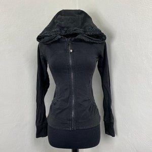 Lululemon Back To Class Jacket Hood Charcoal Gray